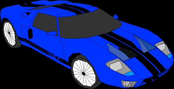 600x309 Blue Sports Car Clipart