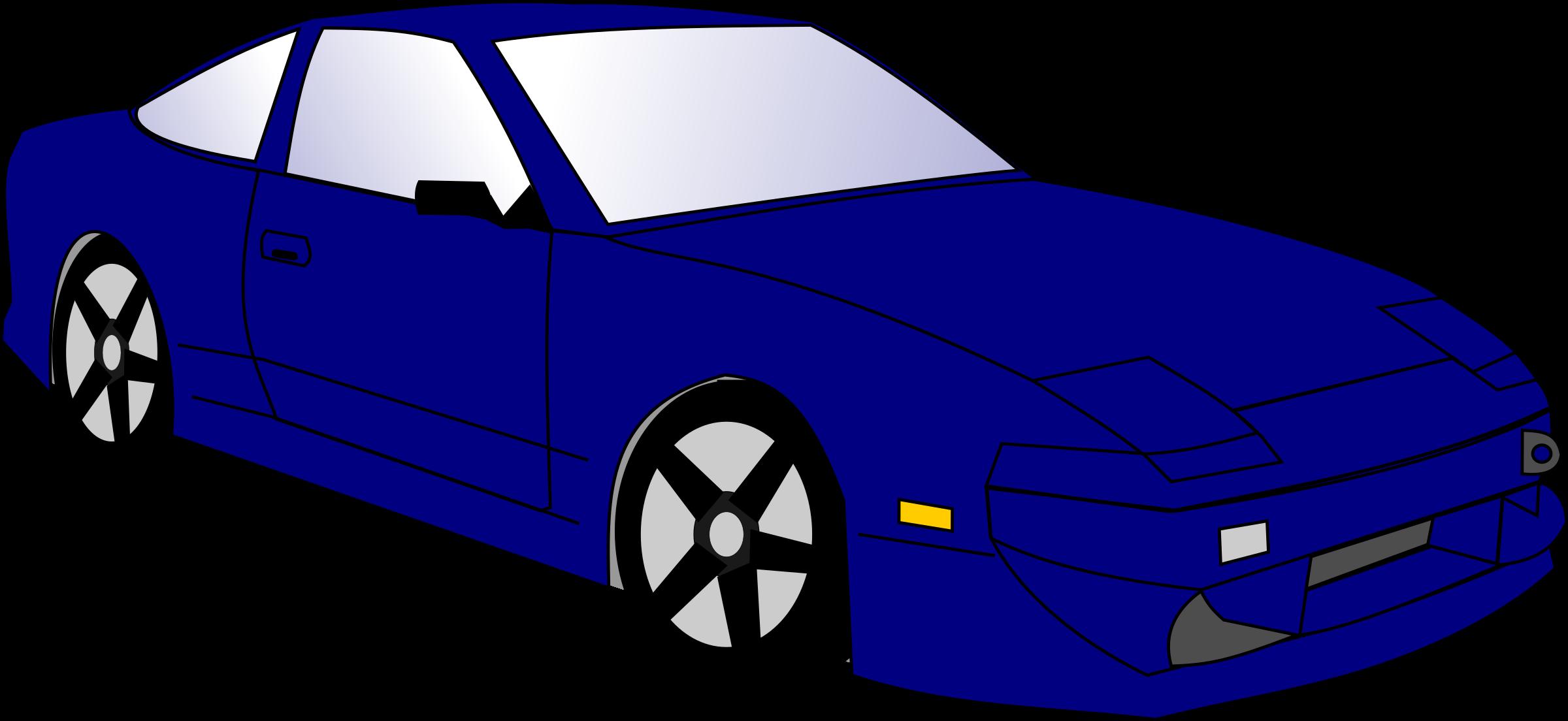 2400x1104 Vehicle Clipart Blue Car