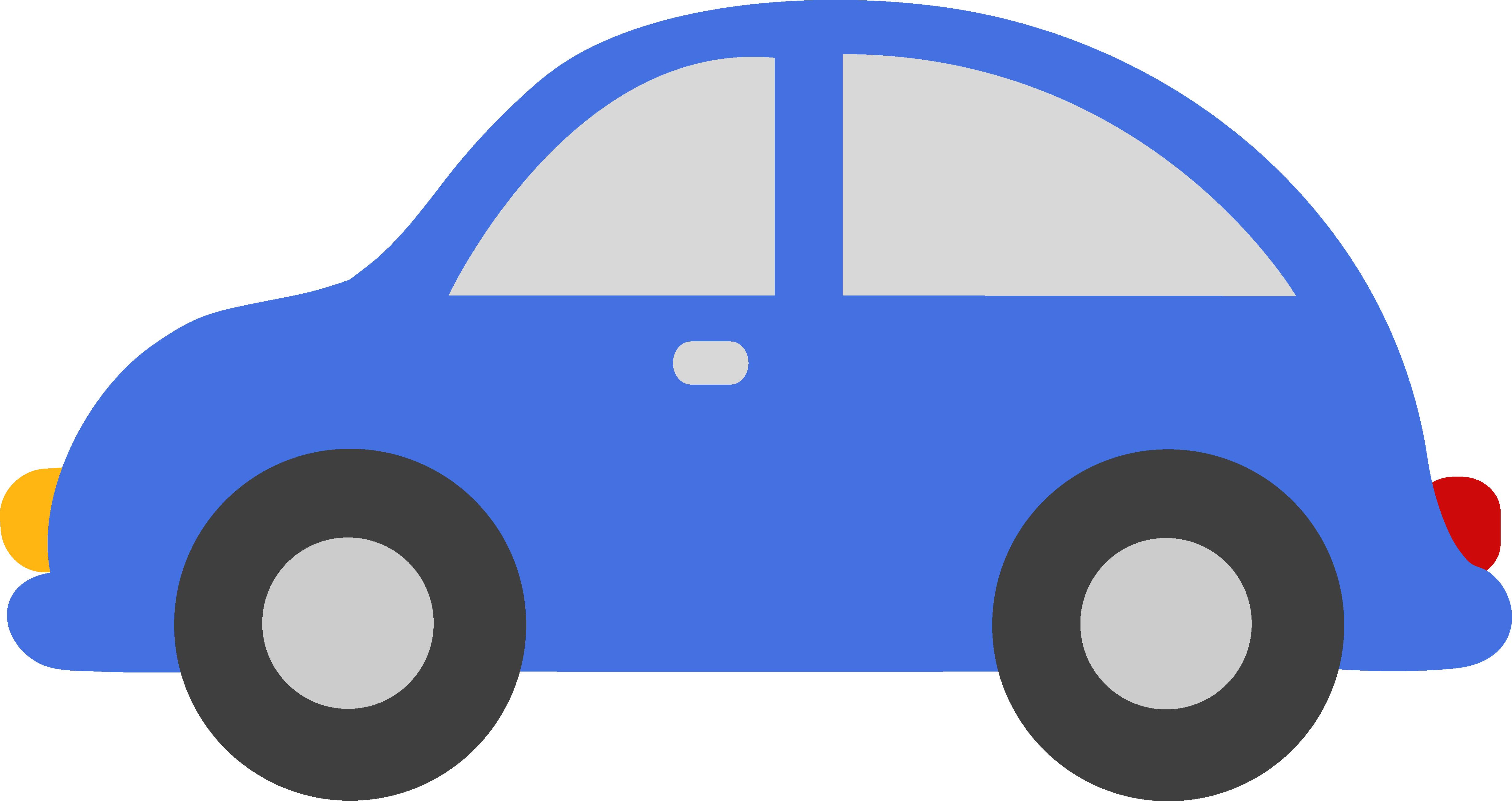 4916x2605 Blue Car Clipart