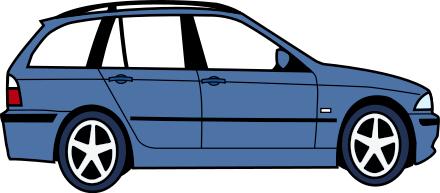 440x193 Blue Car Clipart Animated