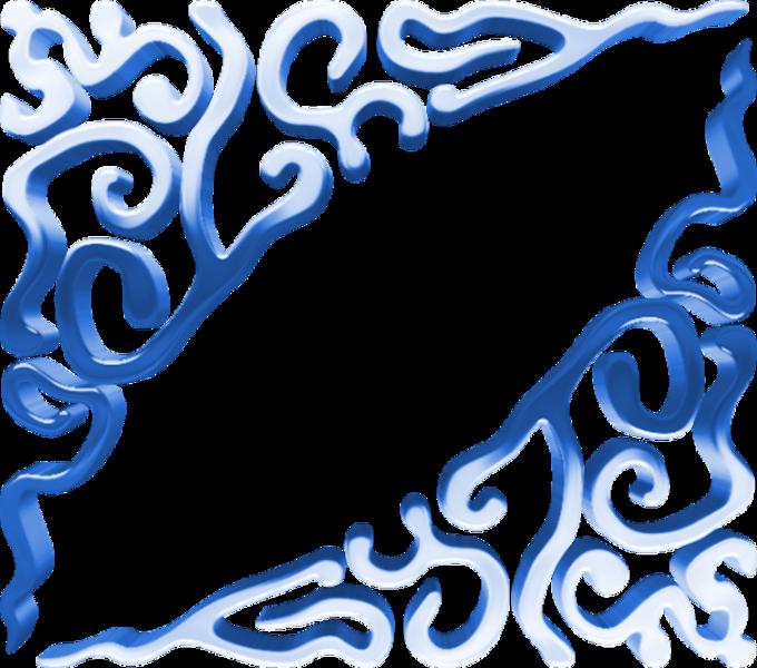 680x600 Blue Corners (Psd) Officialpsds