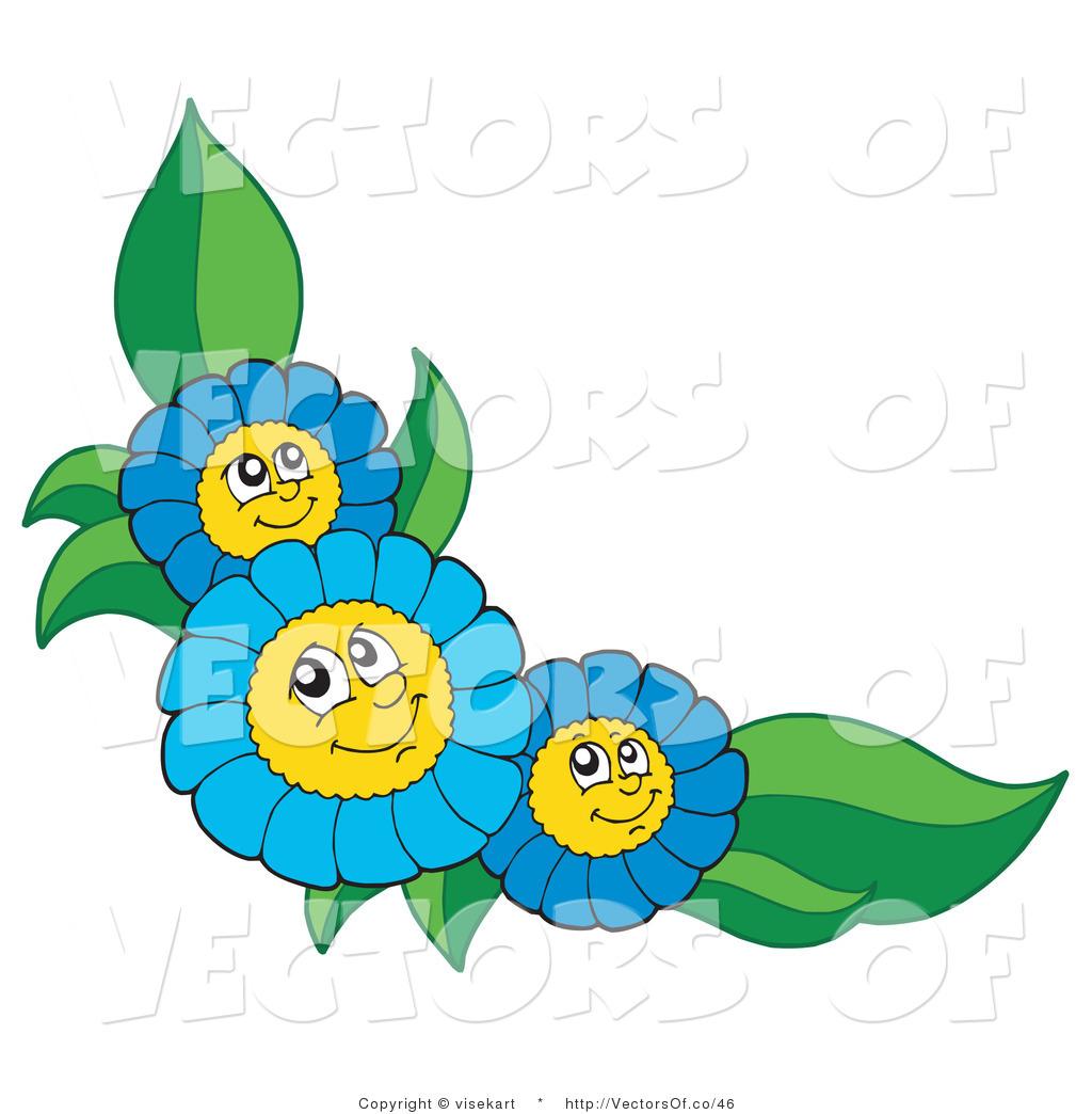 1024x1044 Blue Flower Clipart Flower Line Borders