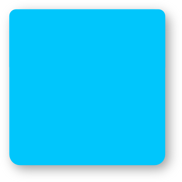 600x600 Blue Square Rounded Corners Clip Art