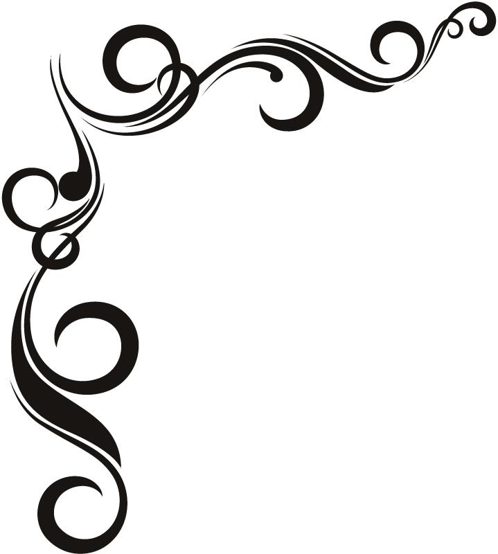 719x800 Curl Clipart Corner Ornament