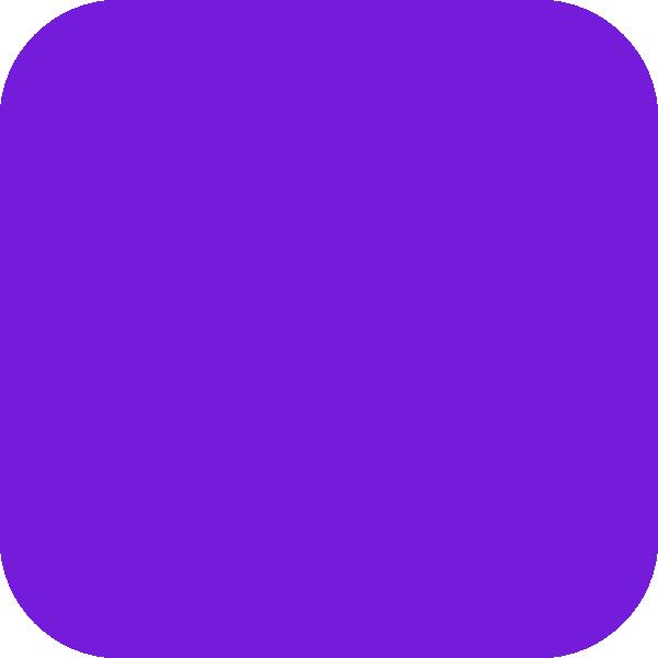 600x600 Purple Round Corners Square Clip Art
