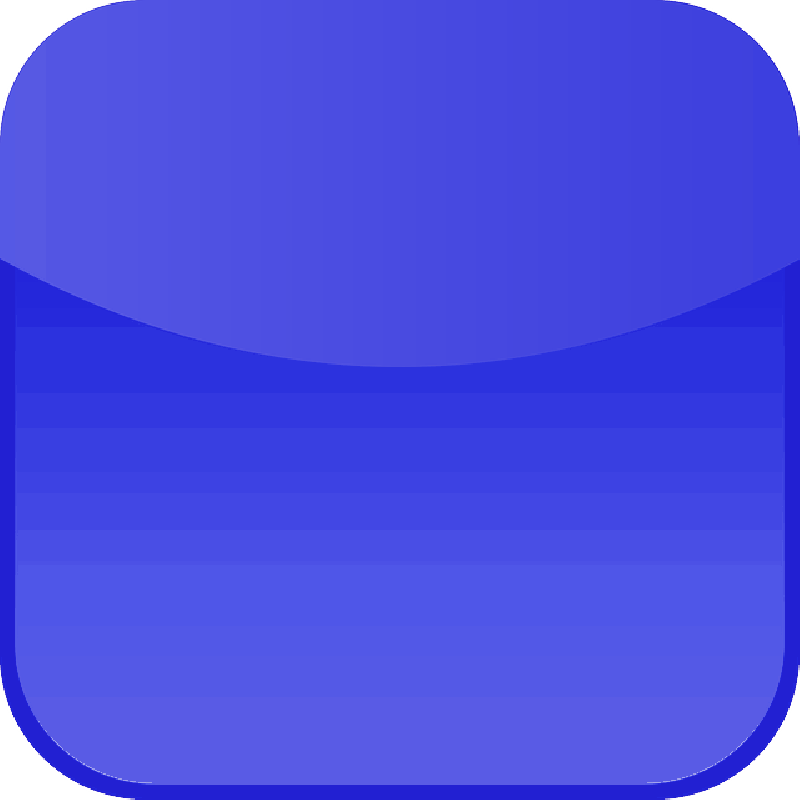 800x800 Button, Blue, Glossy, Rounded Corners, Icon, Glass