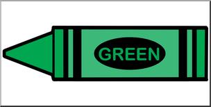 304x154 Clip Art Crayon Green Color I Abcteach