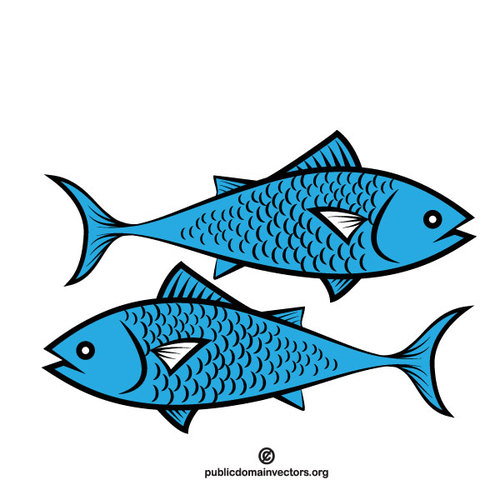 500x500 Blue Fish Vector Clip Art Public Domain Vectors