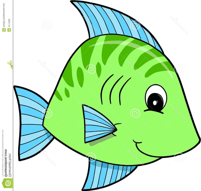 1370x1300 Hd Cute Blue Fish Clipart Green File Free