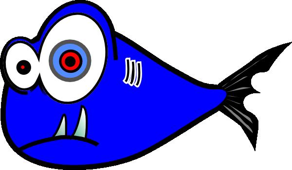 600x350 Blue Fish Black Test 3 Clip Art