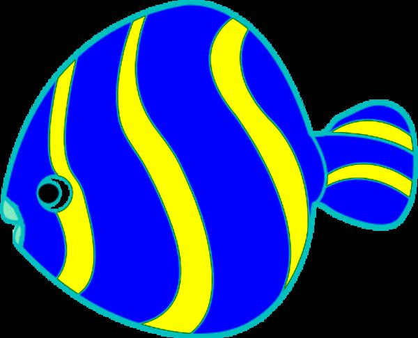 600x486 Tropical Fish Clipart Blue Fish