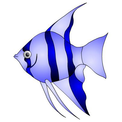 400x400 Striped Fish Clipart