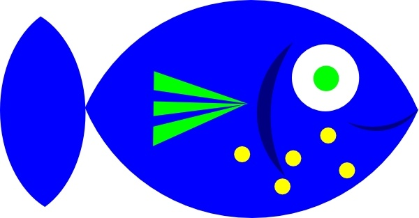 600x313 Blue Fish Clip Art Free Vector In Open Office Drawing Svg ( Svg
