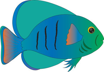 350x243 Blue Fish Fish Clip Art Free Vector For Free Download About