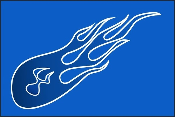 600x401 Blue Flame Free Vector In Coreldraw Cdr ( Cdr ) Vector