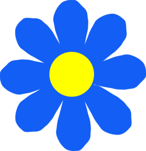 291x300 Blue Flower Clipart