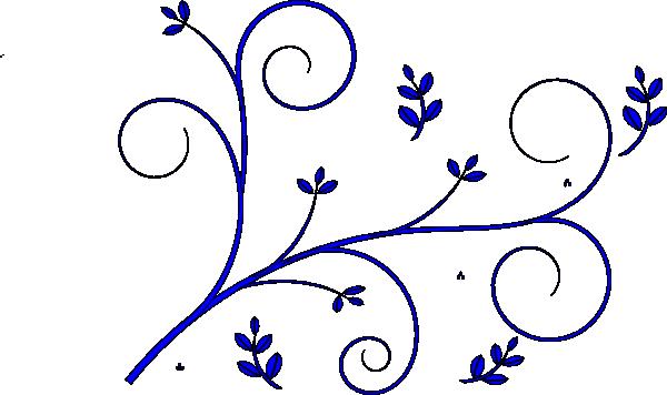 600x356 Floral Design Blue Clip Art