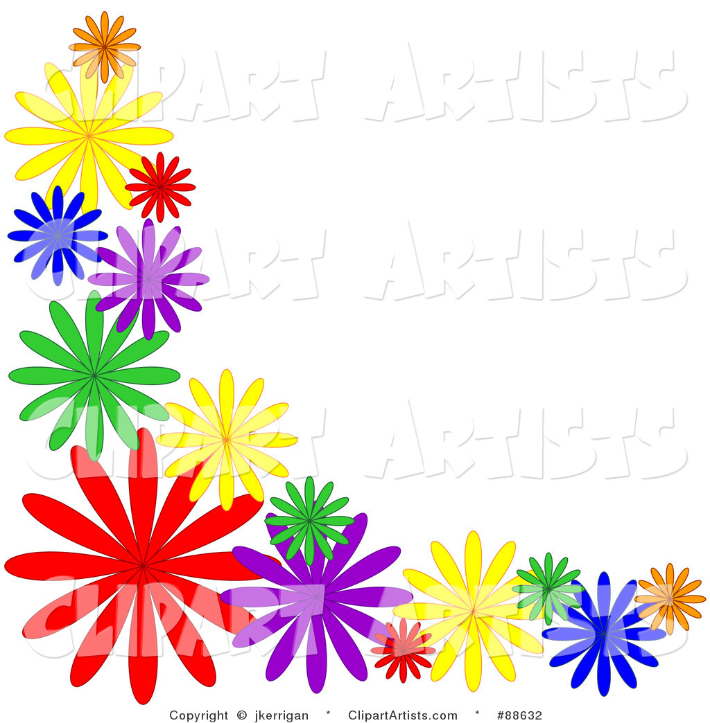 Blue Flower Border Clipart Free Download Best Blue Flower Border