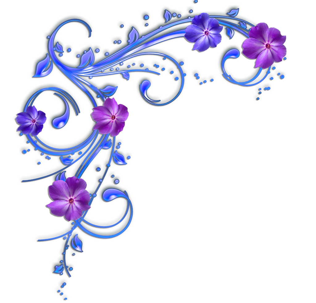 1024x983 Purple Flower Clipart Flower Border