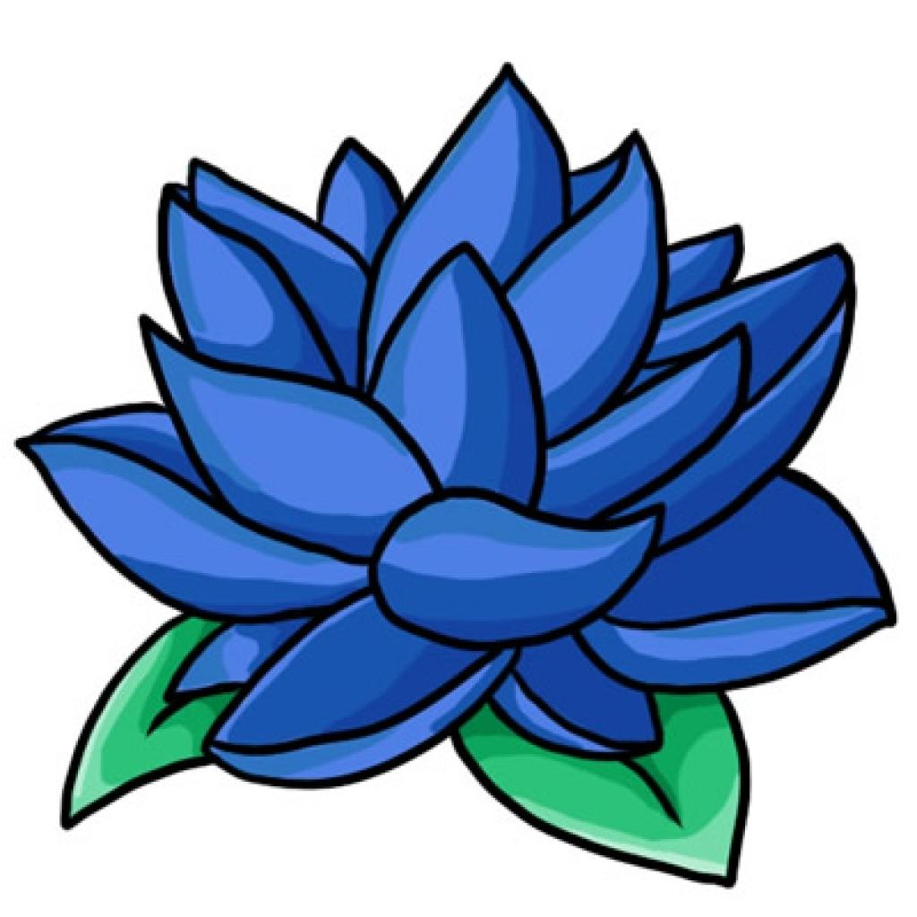 1024x1024 Blue Flower Border Clip Art Clipart Panda Free Clipart Images