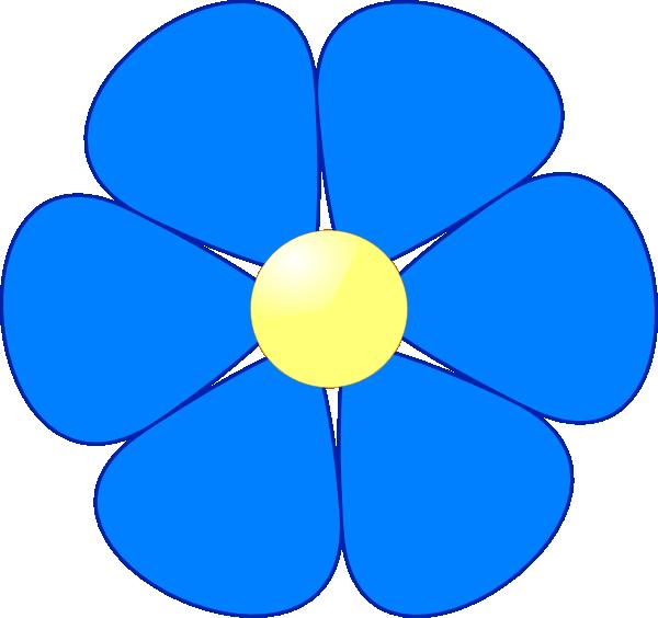 600x564 Blue Flower Clip Art