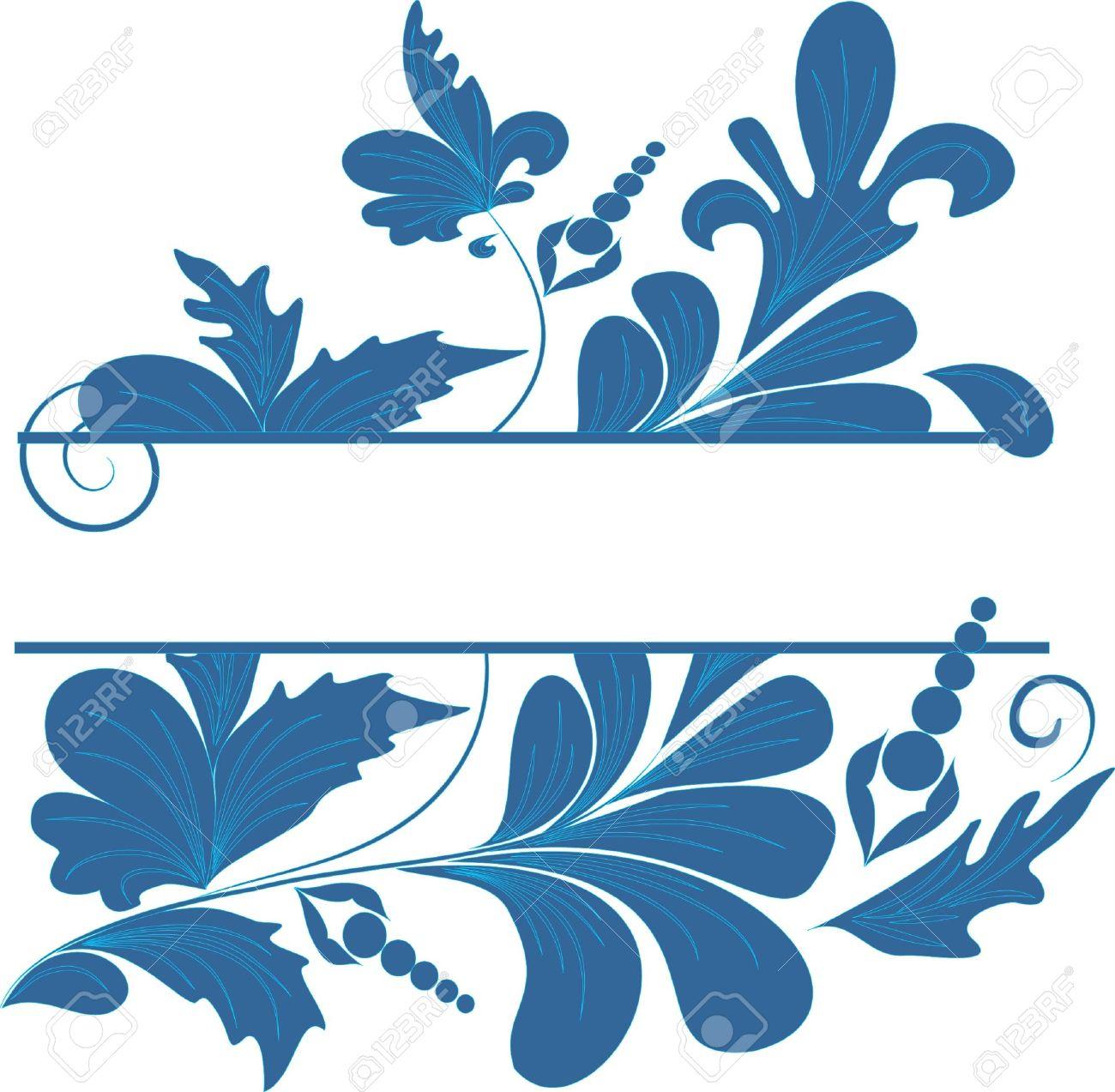1300x1273 Blue Flower Clipart Blue Wedding Border