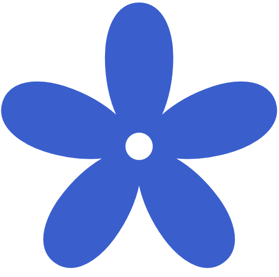 555x550 Blue Flower Clipart Blue Color