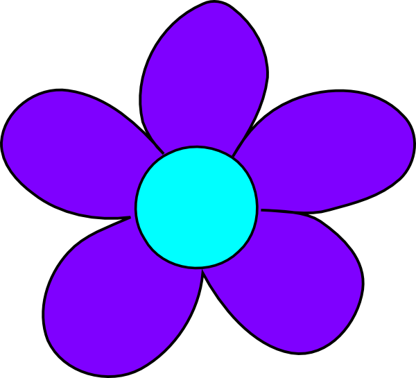 600x545 Blue Flower Blue Blue Flowers, Flower And Clip Art