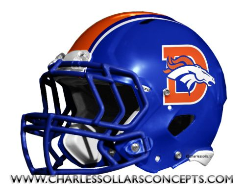 Blue Football Helmets