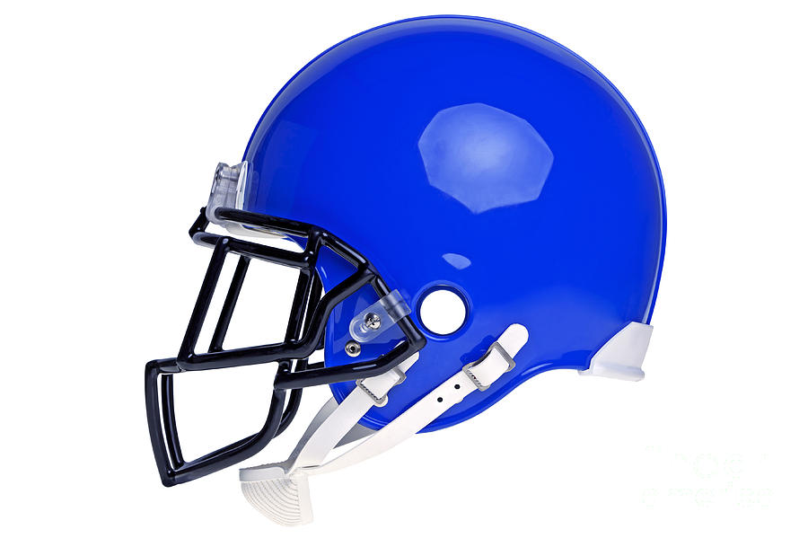 900x599 Blue American Football Helmet Cut Out Photograph By Richard Thomas