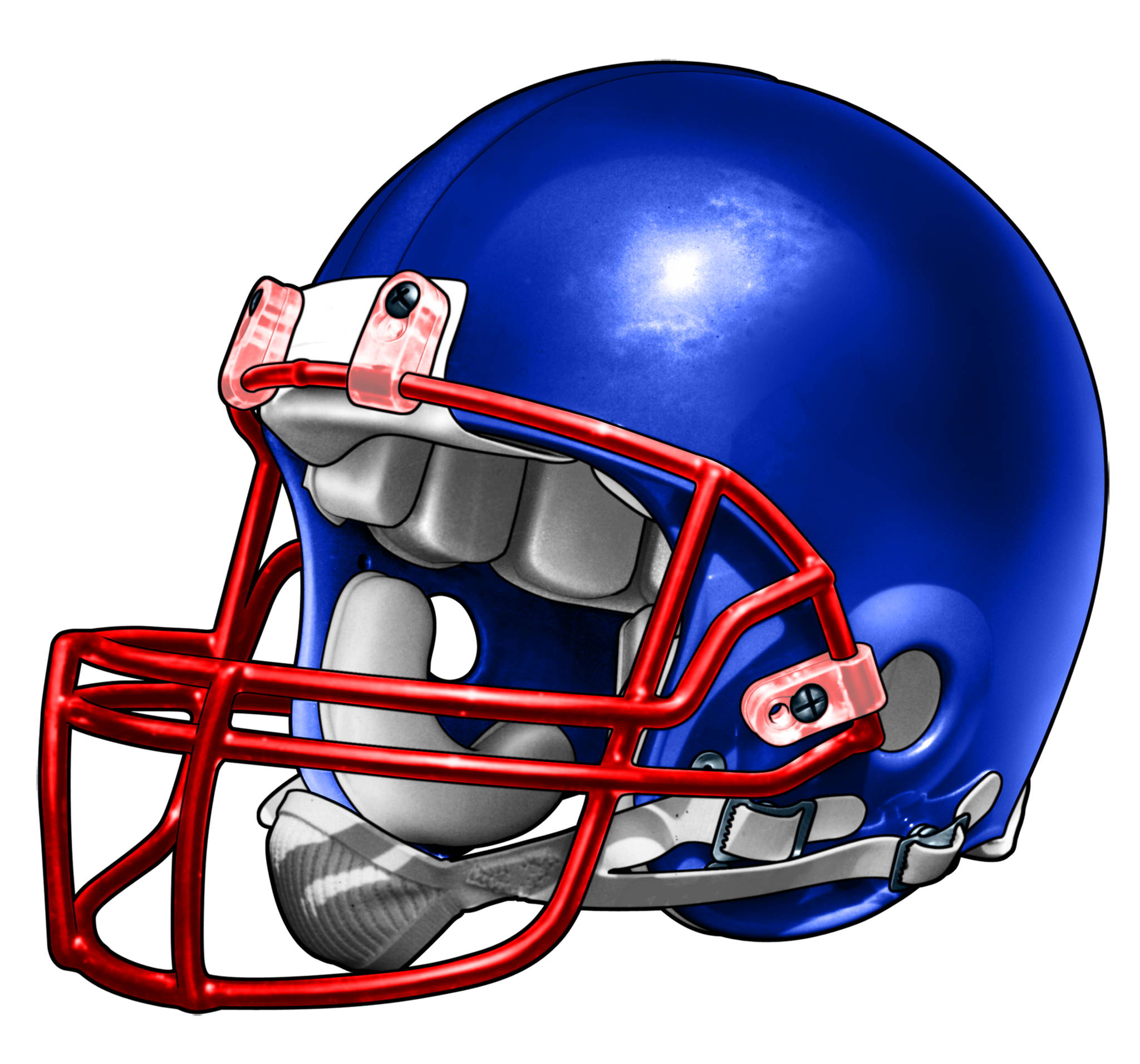 2048x1911 Blue And Red Contrasting Football Helmet T Shirt, Fb20003 Vovo Inc