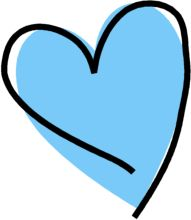 Heart blue. Clipart free download best