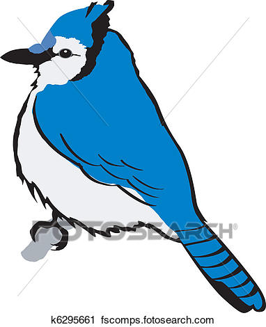 382x470 Clipart Of Blue Jay K6295661