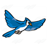 160x160 Jay Clipart Flying Blue