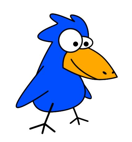 426x458 Blue Jay clipart funny bird