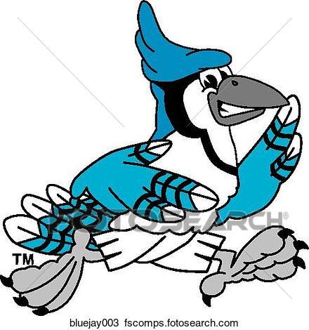 440x470 Drawing of Blue Jay Running bluejay003
