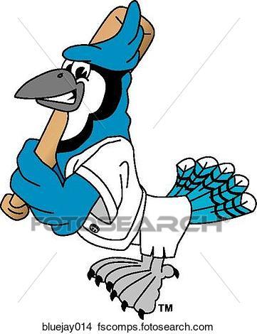 361x470 Drawings of Blue Jay playing Baseball bluejay014
