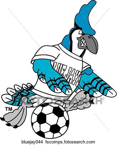 382x470 Drawings of Blue Jay playing Soccer with angry face bluejay044