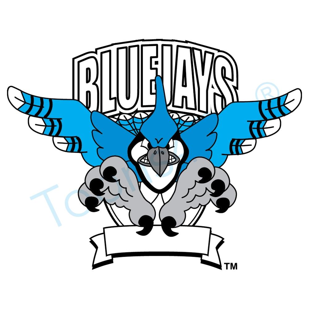 1000x1000 Blue Jay Mascot Clip Art Logo Design Template