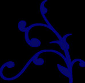 298x291 Blue Flower Clipart Blue Scroll