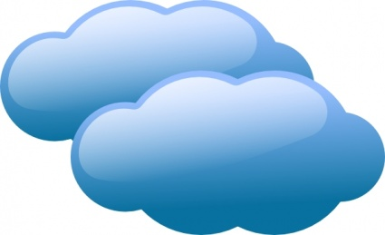 425x259 Blue Clouds Clip Art Vector, Free Vector Images