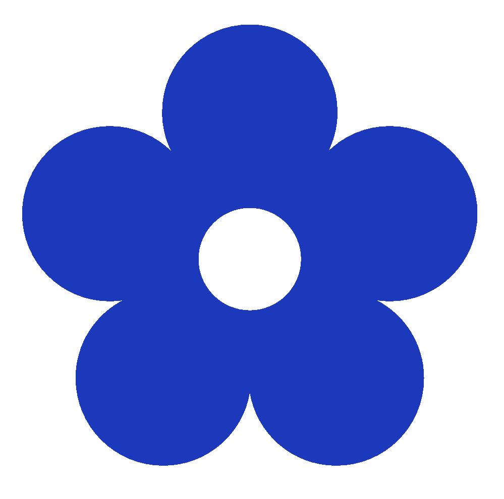 999x990 Blue Flower Clipart