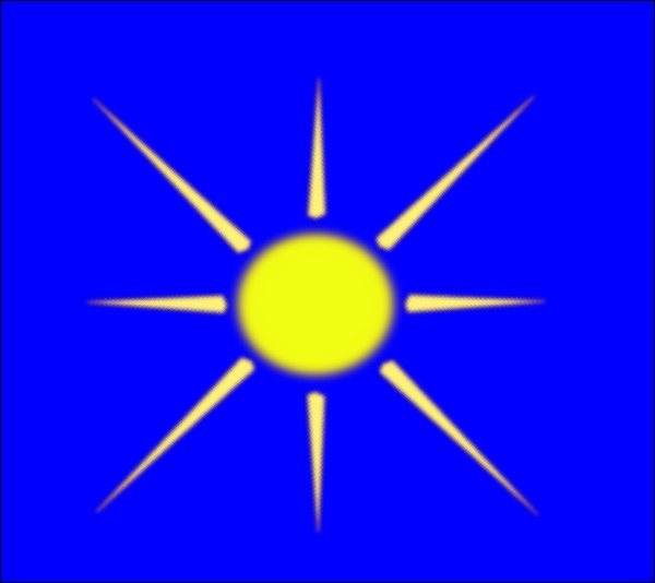600x534 Sun With Blue Sky Clip Art Free Vector In Open Office Drawing Svg