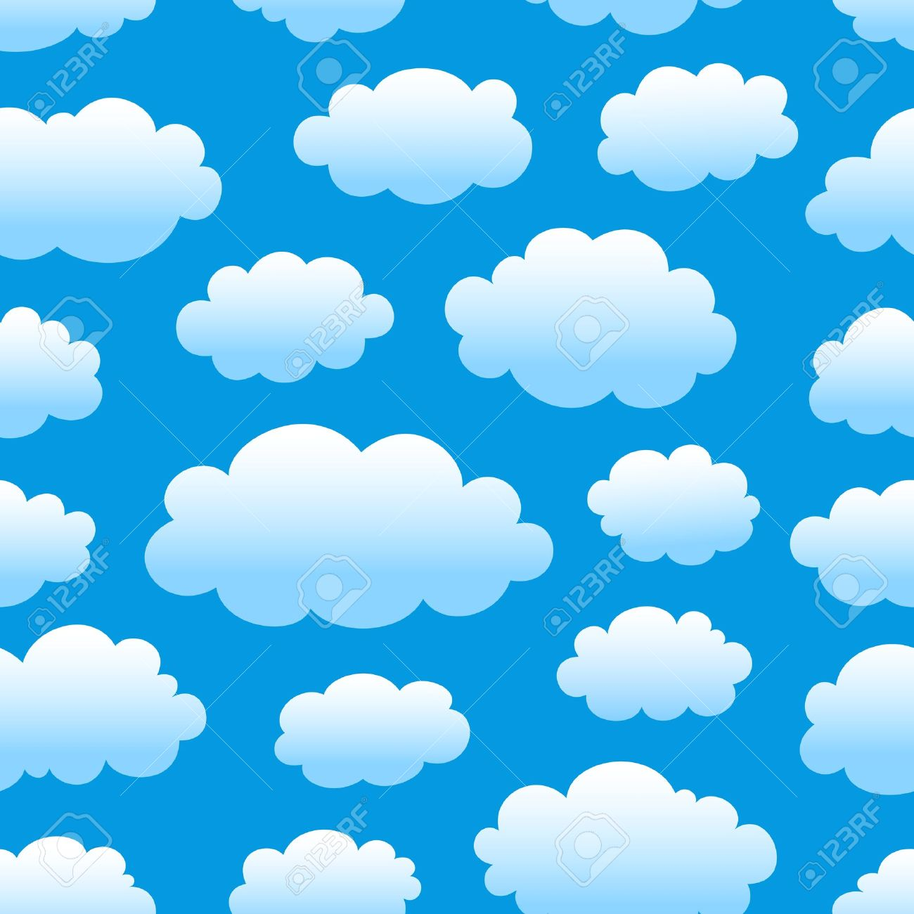 1300x1300 Blue Sky With Clouds Clip Art Cliparts