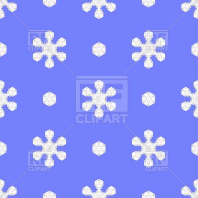 400x400 Seamless Blue Snowflake Pattern Royalty Free Vector Clip Art Image