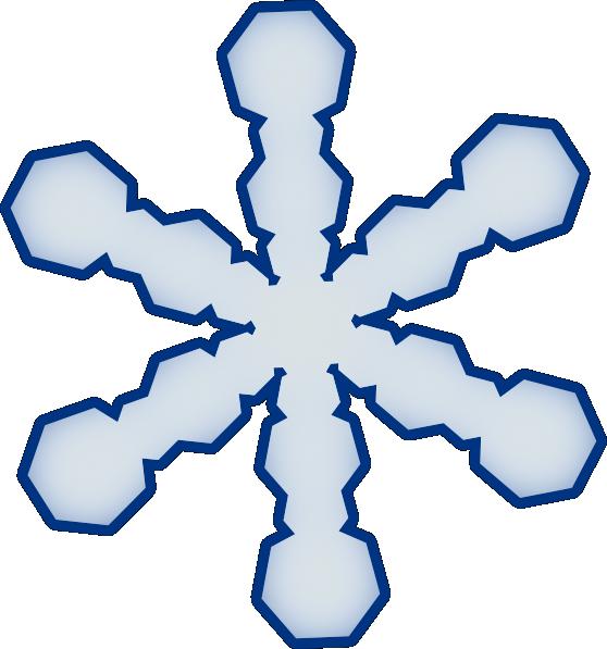 558x597 Simple Snowflake Clip Art