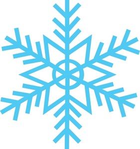281x300 Snow Flake Clipart Image