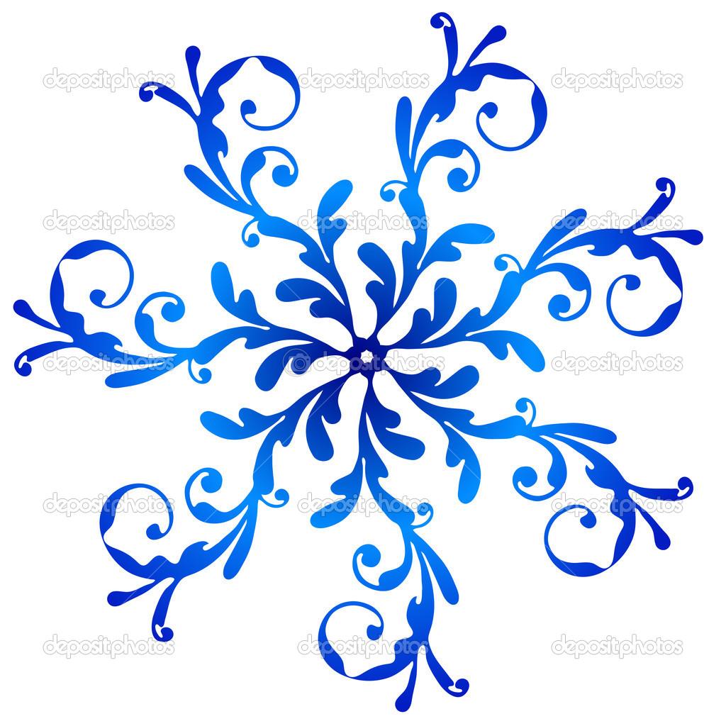 1024x1024 Snowflake Clip Art Blue Vintage Snowflake Stock Vector