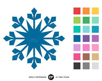 340x270 Snowflake Clip Art Etsy