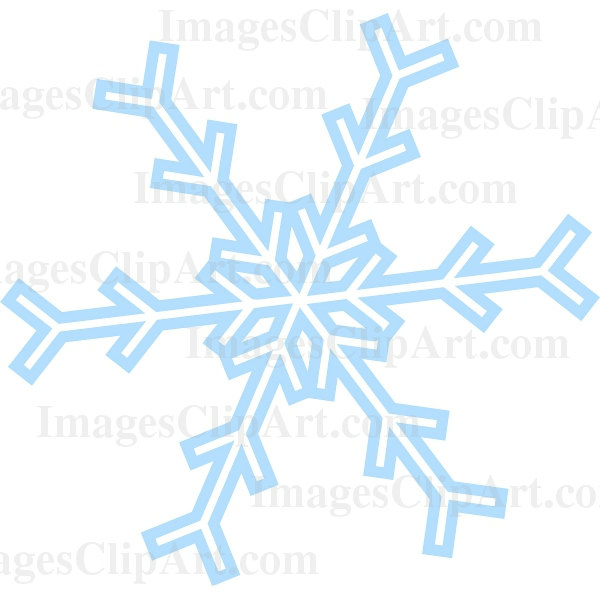 600x600 Snowflake Clipart Clear Background
